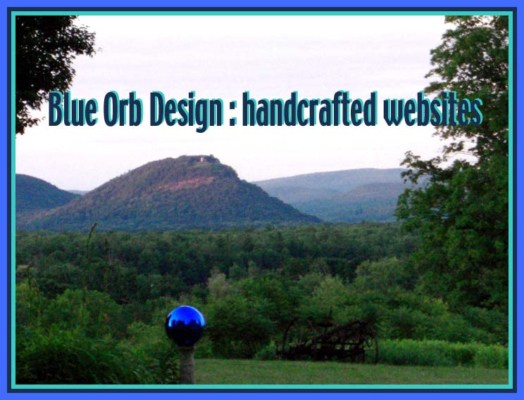 Blue Orb Design: handcrafted websites